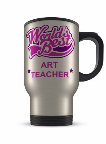 14oz Worlds Best... Novelty Gift Aluminium Travel Mug - Pink